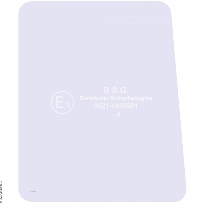 R00 - Seitenscheibe rechts Akerman BaggerEC + EW Serie (150 - 450) Seitenscheibe rechts vorne