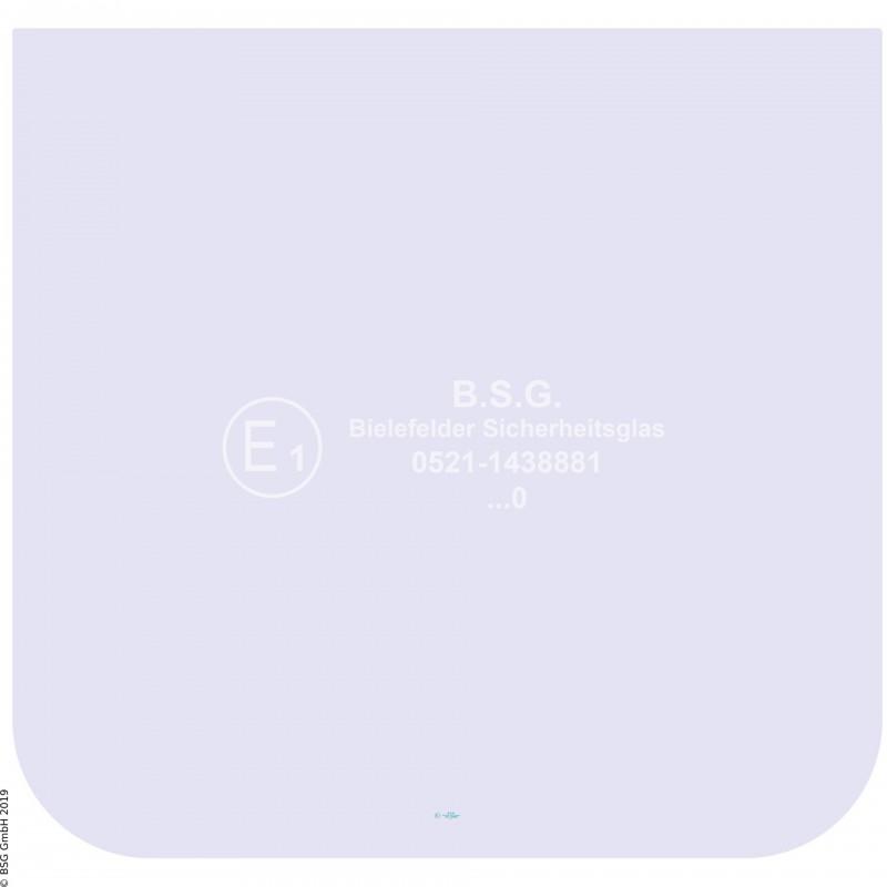 FD0 - Türscheibe links o. rechts Zettelmeyer RadladerZL 501, 501B (bis FgNr. 980101), 601, 601B (bis Fg Türscheibe unten