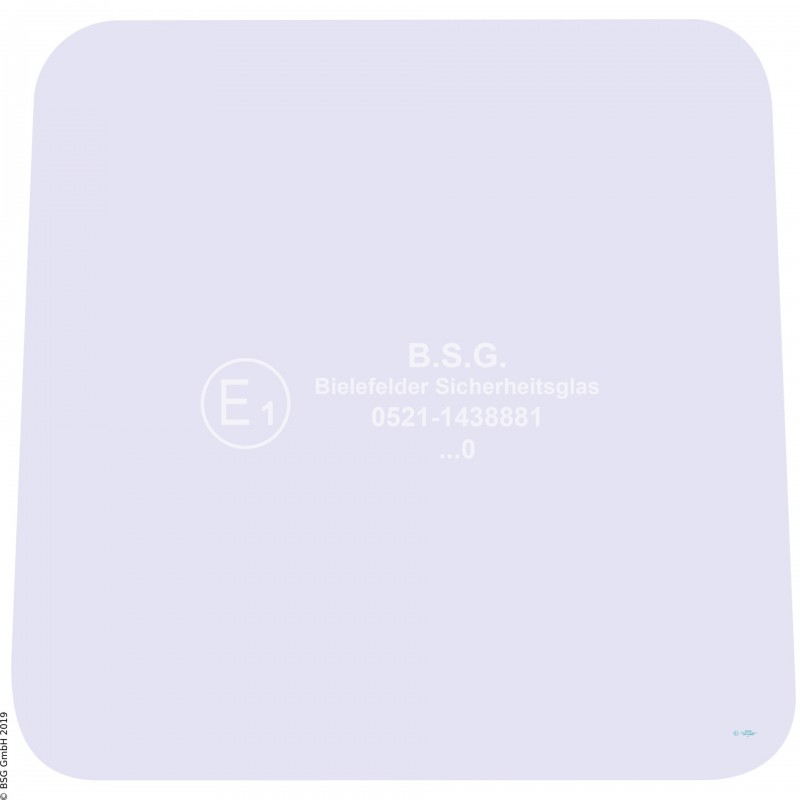 A00 - Frontscheibe Zettelmeyer RadladerZL 501, 501B (bis FgNr. 980101), 601, 601B (bis Fg Frontscheibe