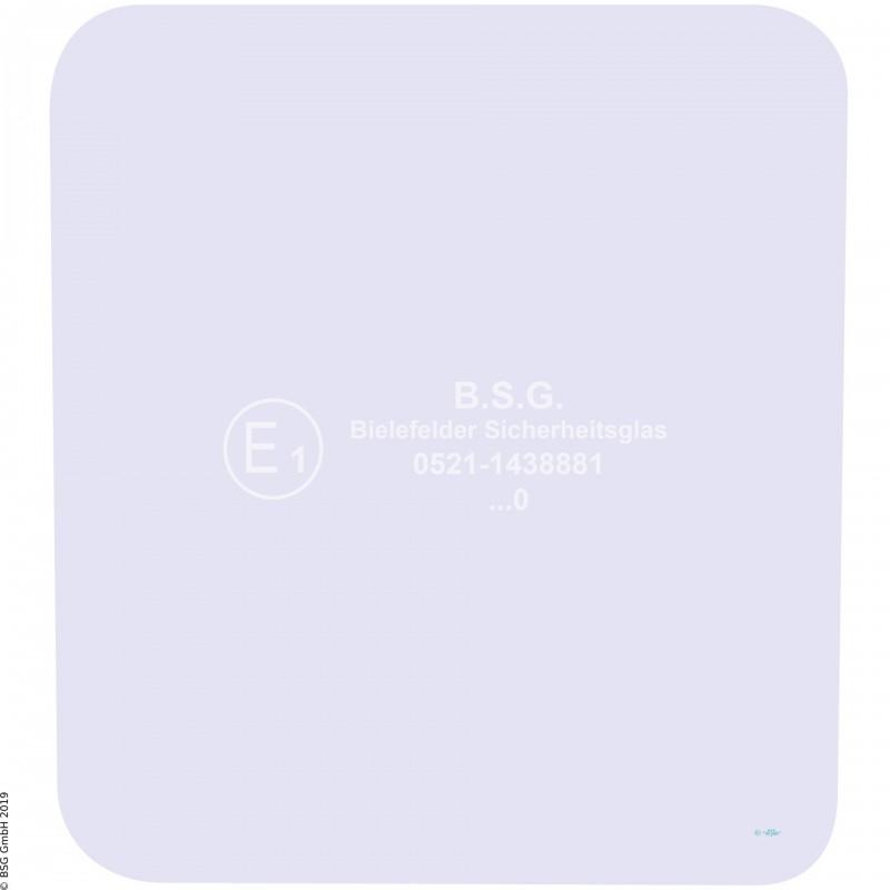 A00 - Frontscheibe Zettelmeyer RadladerZL 602, 702 (ab FgNr. 6201001) Frontscheibe