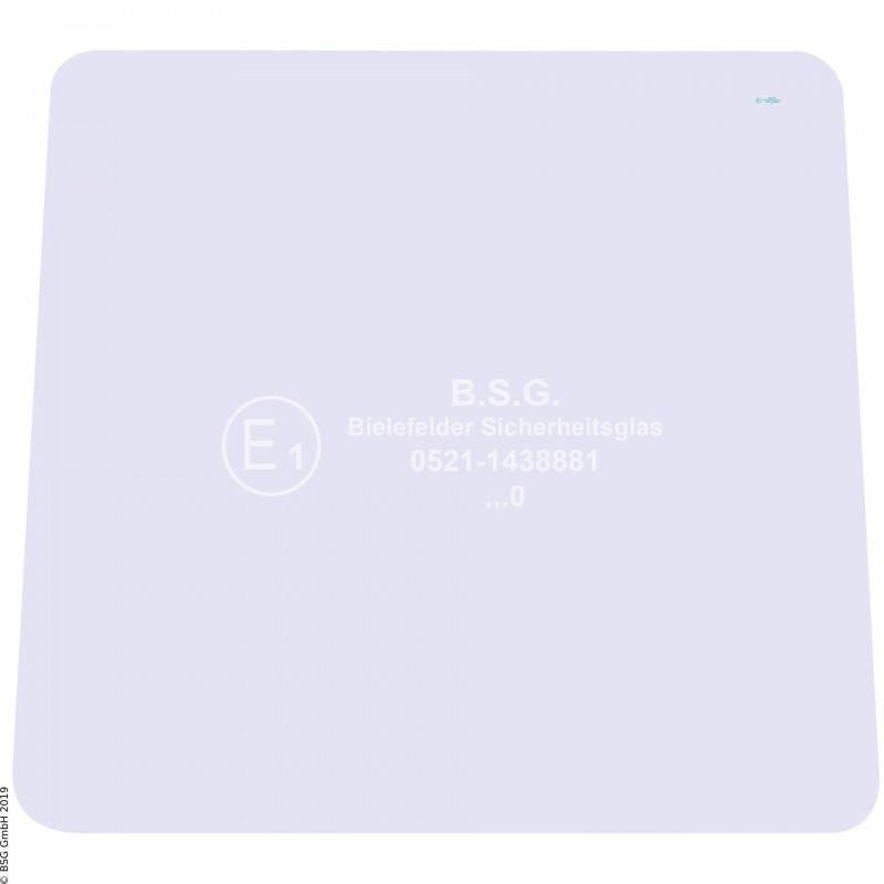 A00 - Frontscheibe Zettelmeyer Radlader & KettenladerZL 801 (ab FgNr. 9601012), 1001 Frontscheibe
