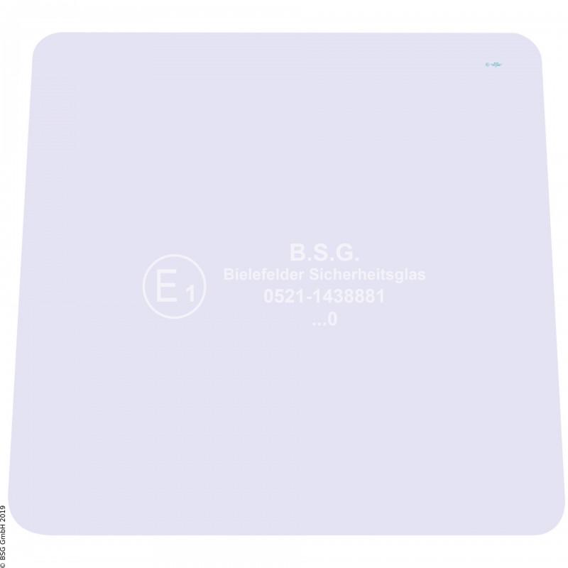 A00 - Frontscheibe Zettelmeyer RadladerZL 801 (ab FgNr. 9601012), 1001 Frontscheibe