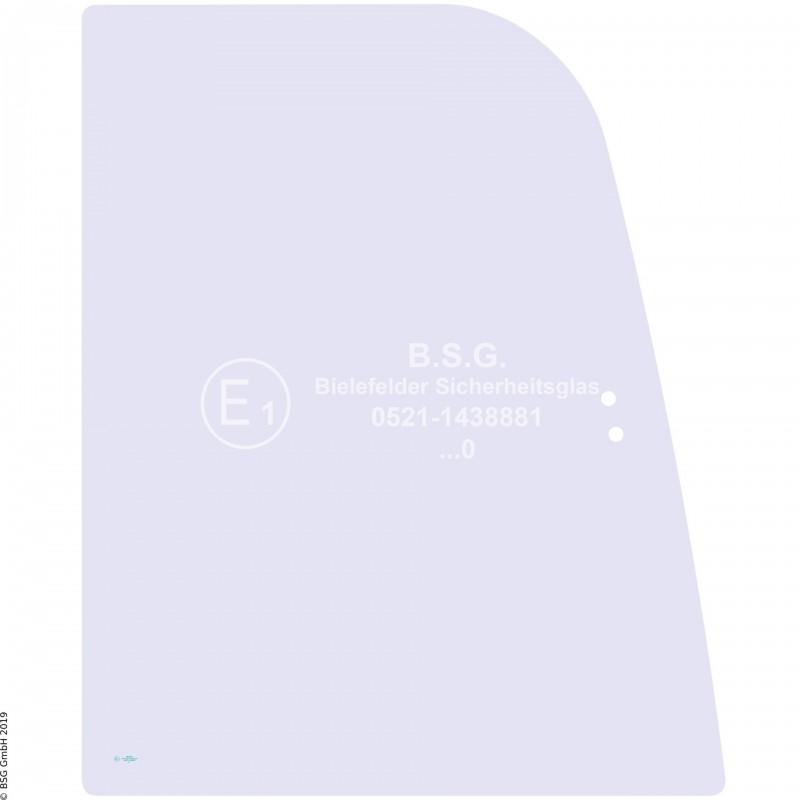 R00 - Seitenscheibe rechts Airman BaggerAX 16-3, 18-3, 25-3, 30-3, 35-3, 40-3, 50-3 Rechte vordere Schiebescheibe (Lochabstand 36mm, AX30 aufwärts)