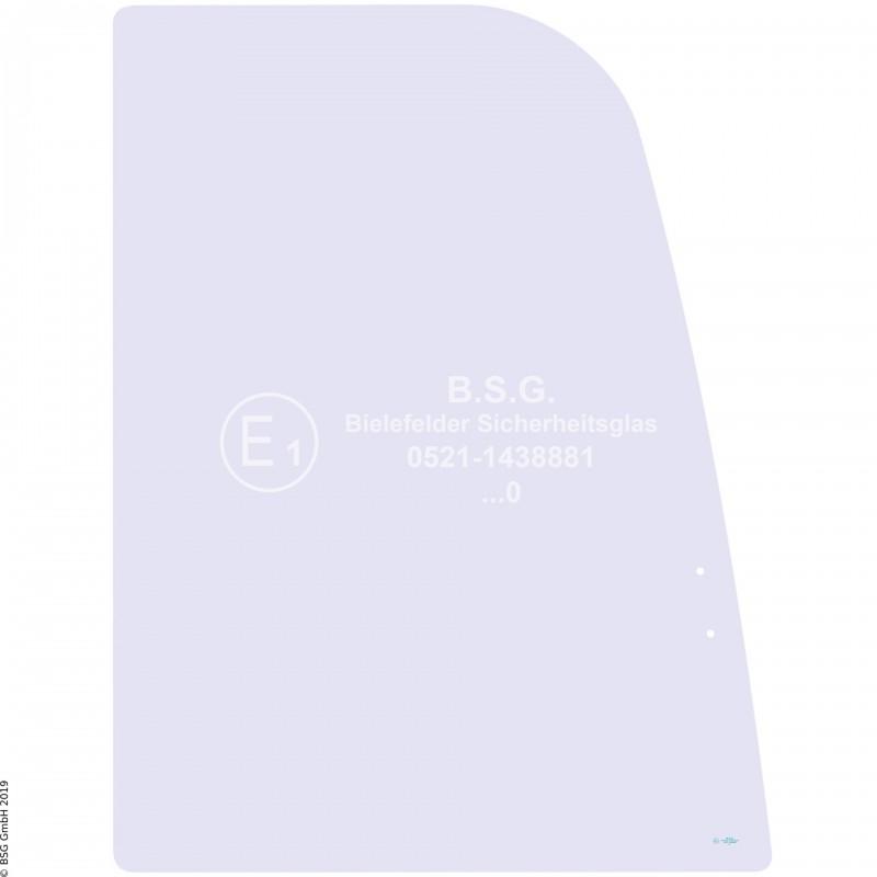 R00 - Seitenscheibe rechts Airman BaggerAX 16-3, 18-3, 25-3, 30-3, 35-3, 40-3, 50-3 Rechte vordere Schiebescheibe (Lochabstand 55mm, bis AX25)