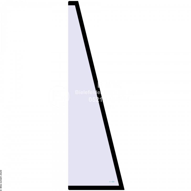 R00 - Seitenscheibe rechts Yanmar BaggerB17, B22 (europ. Kabine) Seitenscheibe rechts vorne (B17)