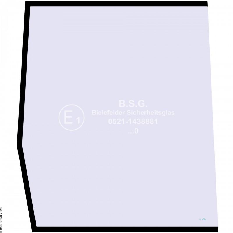 R00 - Seitenscheibe rechts Yanmar BaggerB17, B22 (europ. Kabine) Seitenscheibe rechts hinten