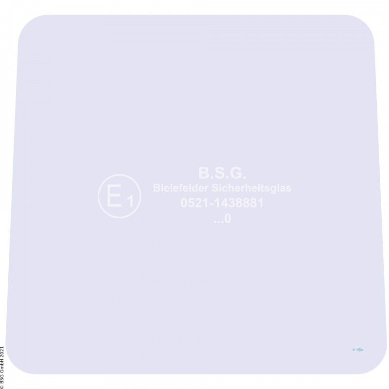 B00 - Heckscheibe Zettelmeyer RadladerZL 602, 702 (ab FgNr. 6201001) Heckscheibe