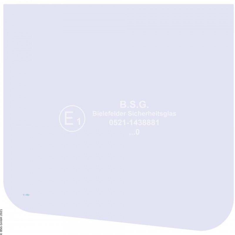 FD0 - Türscheibe links o. rechts Zettelmeyer RadladerZL 602, 702 (ab FgNr. 6201001) Türscheibe unten